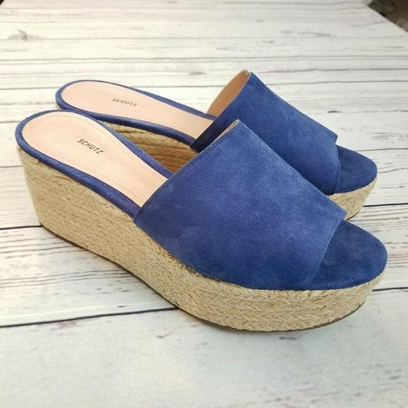 07c1676f7ccac SCHUTZ Thalia Wedge Sandals Size 10 B